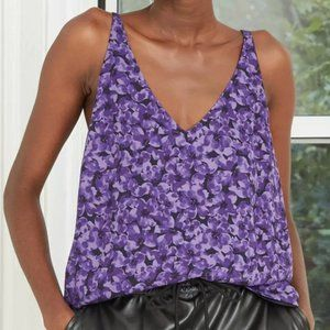 🌌2/$20 A New Day Purple Floral V Neck Camisole M